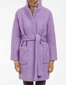 Oversized coat with belt GANNI
