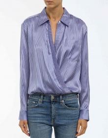 Camisa-body seda rayas