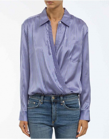 tops-shirts Body silk striped shirt T BY ALEXANDER WANG