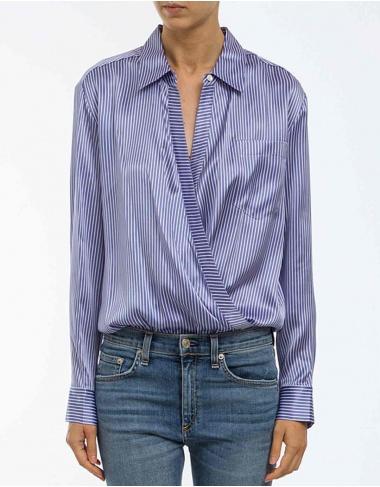 tops-y-camisas Camisa-body seda rayas T BY ALEXANDER WANG