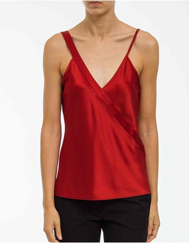tops-y-camisas Top satén escote pico T BY ALEXANDER WANG