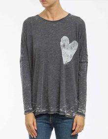 C/T-shirt over corazón-negro THE HIP TEE
