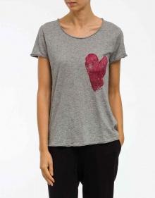 C/T-shirt corazón contraste-gris THE HIP TEE