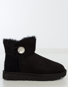 Botín mini button bling - negro UGG