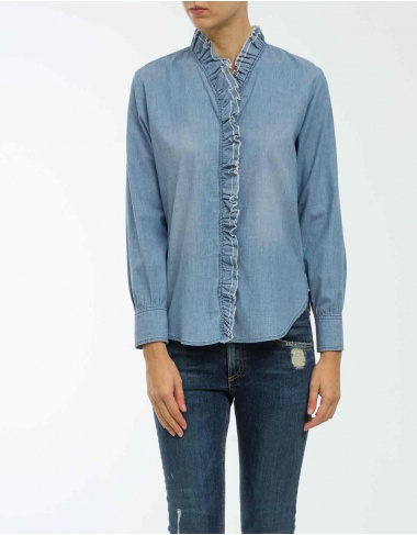 tops-y-camisas LAWENDY - Blusa chambray volante ISABEL MARANT ETOILE