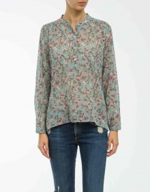 MARIA - Printed blouse - water green ISABEL MARANT ETOILE