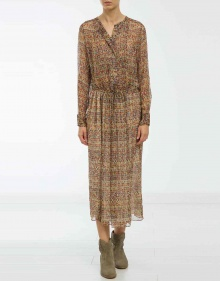 BAPHIR - Long printed silk dress ISABEL MARANT ETOILE