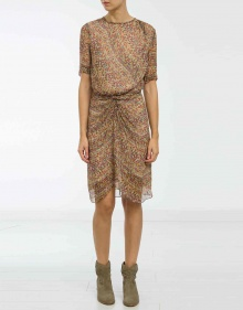 BARDEN - Printed silk dress ISABEL MARANT ETOILE