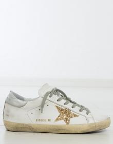 Sneaker estrella glitter dorada GOLDEN GOOSE DELUXE BRAND