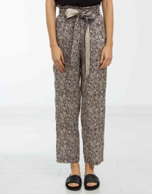 Printed silk and lurex trousers MASSCOB