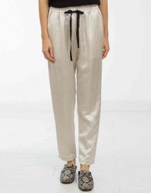 Wrinkled silk trousers FORTE FORTE