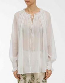 Romantic blouse - white FORTE FORTE