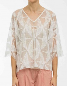 Openknitted cotton top FORTE FORTE