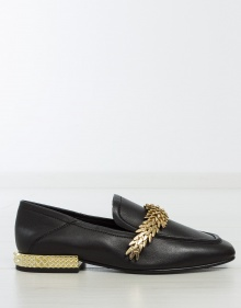 EDGY metallic feathers loafers ASH