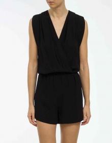 Crepe short jumpsuit - black VANESSABRUNO