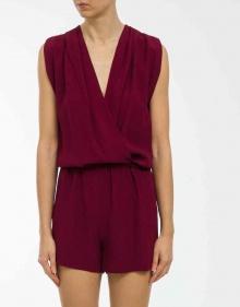 Crepe short jumpsuit - burgundy VANESSABRUNO